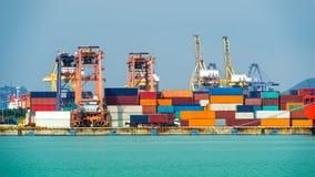 Treno del container Fotografie Stock Libere da Diritti