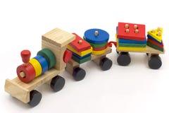 Treno del giocattolo dei bambini Fotografie Stock