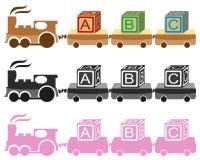 Treno del giocattolo dei bambini Immagini Stock