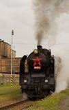 Treno del motore a vapore Immagini Stock Libere da Diritti