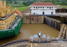 Treno del mulo del canale di Panama Immagine Stock Libera da Diritti