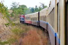 Treno del Myanmar fotografia stock libera da diritti