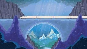 treno del paesaggio Immagine Stock Libera da Diritti