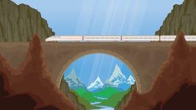 treno del paesaggio Immagini Stock Libere da Diritti