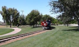 Treno del parco Fotografia Stock Libera da Diritti