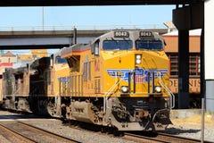 Treno del porto Immagine Stock Libera da Diritti