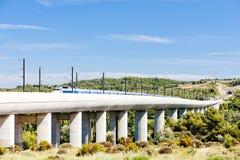 Treno del TGV, Francia Immagine Stock