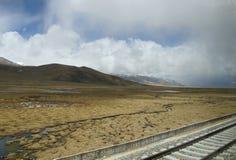 Treno del Tibet Immagine Stock Libera da Diritti