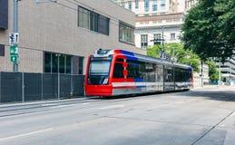 Treno del trasporto pubblico a Houston il Texas fotografia stock