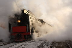 Treno del vapore Immagini Stock