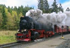 Treno del vapore del calibro stretto di Harz, Germania Immagini Stock Libere da Diritti