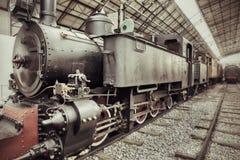 Treno del vapore dell'annata fotografie stock libere da diritti
