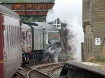 Treno del vapore di Gresley A4 Pacifico 60009 a Carnforth Fotografie Stock
