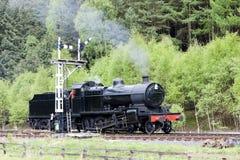 Treno del vapore, Inghilterra Fotografia Stock Libera da Diritti