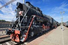 Treno del vapore. L'URSS. Fotografie Stock Libere da Diritti