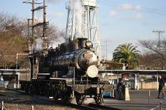 Treno del vapore in locomotiva di vapore di Umekoji Musuem Immagine Stock