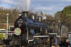 Treno del vapore in locomotiva di vapore di Umekoji Musuem Fotografia Stock