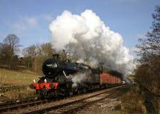 Treno del vapore nel paese di Bronte Fotografia Stock Libera da Diritti
