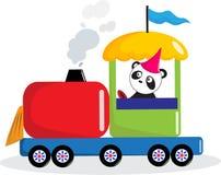 Treno dell'azionamento del panda. royalty illustrazione gratis