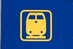 Treno dell'icona Immagine Stock