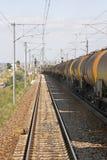 Treno dell'olio Fotografia Stock