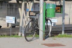 Treno della bicicletta Fotografie Stock Libere da Diritti