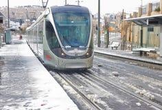 Treno della città sull'arresto a Gerusalemme Immagine Stock Libera da Diritti