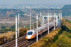 Treno della ferrovia ad alta velocità di Taiwan Fotografia Stock Libera da Diritti