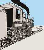 Treno della locomotiva di vapore Fotografie Stock