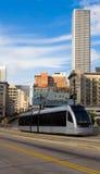 Treno della metropolitana di Houston Fotografia Stock