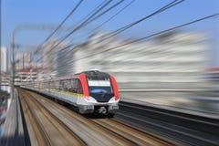 Treno della metropolitana di Shanghai Immagini Stock