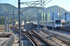 Treno della metropolitana di Shenzhen Fotografia Stock Libera da Diritti