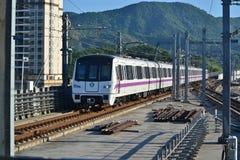 Treno della metropolitana di Shenzhen Fotografie Stock Libere da Diritti
