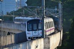 Treno della metropolitana di Shenzhen Fotografia Stock