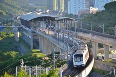 Treno della metropolitana di Shenzhen Immagine Stock