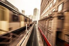 Treno della metropolitana in Kuala Lumpur Malaysia fotografia stock