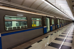 treno della metropolitana nella stazione Fotografia Stock Libera da Diritti
