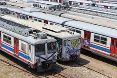 Treno della metropolitana o treno della città Immagine Stock Libera da Diritti