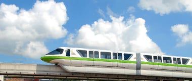 Treno della monorotaia Fotografia Stock