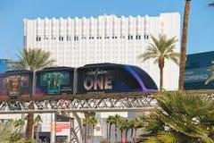 Treno della monorotaia a Las Vegas. fotografia stock libera da diritti