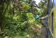 Treno della montagna di Nilgiri a Ooty Fotografie Stock Libere da Diritti