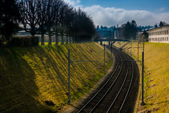 treno della pista Fotografie Stock Libere da Diritti