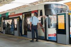 Treno dello skytrain di BTS Immagine Stock