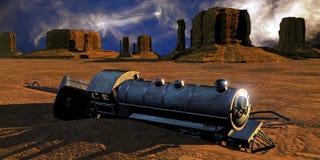 Treno di Abadoned Fotografia Stock Libera da Diritti
