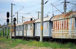 Treno di Abandonned Fotografia Stock Libera da Diritti