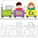 Treno di alfabeto Fotografia Stock