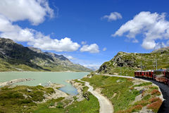 Treno di Bernina Immagine Stock Libera da Diritti