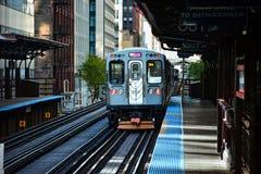 Treno di Chicago CTA Fotografia Stock