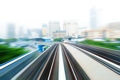 Treno di cielo Fotografia Stock Libera da Diritti
