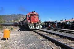 Treno di EL Chepe, canyon di rame, Messico Immagini Stock Libere da Diritti